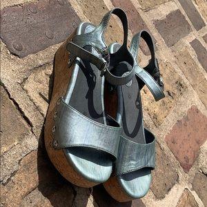 Bussola platform sandals 40 silver